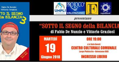 """Presentazione del libro """"SOTTO IL SEGNO della BILANCIA 3"""" di Fabio De Nunzio e Vittorio Graziosi."""